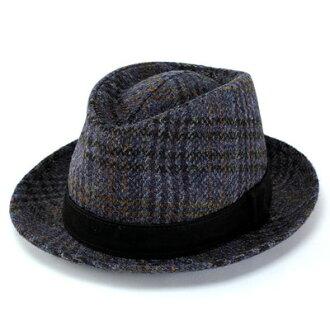 Turu Hat Hat Hat fashion Harris Tweed casket leather belt (Harris Tweed autumn/winter for fall/winter merchandise Hat CAP and stylish fashion Hat Caps hats fashion fall winter store)