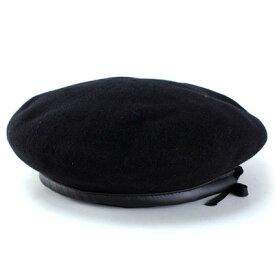 ベレー帽 メンズ ミリタリー ベレー NEW YORK HAT 帽子 バスク ベレー ウール チェコ製 ニューヨークハット アーミーベレー 大きいサイズ 紳士 ベレー レディース ハットブランド #4020 Montgomery Beret サイズ調整 M L XL 黒 ブラック [ beret ]