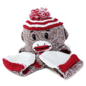 Sock Monkey kids knit hat animal knit Cap San Diego Hat kids Hat monkey  scarf knit KIDS knit cap SOCK MONKEY monkey (hat CAP and stylish fashion  store Hat ... 7143860fa809