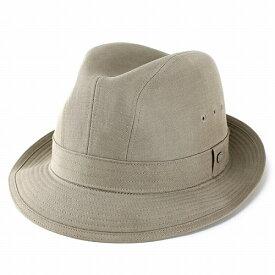 【お得なクーポン配布中】 ボルサリーノ 中折れ ハット メンズ ライナー型 テンセル麻 紳士 春 夏 撥水加工 KEEPRESH 採用 ベージュ [ fedora ](おしゃれ 中折れ帽子 中折れ帽 中折れハット メンズハット 紳士帽子 メンズ帽子 40代 50代 60代 ファッション
