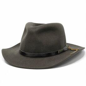 カウボーイハット フェルトハット インディジョーンズ ハット メンズ ワイドブリム レザー調ベルト ウール 秋冬 ウエスタン アドベンチャー ブラウン 茶 紳士 小物 プレゼント ギフト アウトドア [cowboy hat] フェルト