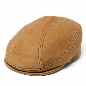 ハンチング レザー メンズ 帽子 ニューヨークハット オールド アメカジ ヴィンテージ 9214 Vintage Leather 1900 ラスト 茶 本革 NewYorkHat 紳士 男性用 小物 プレゼント ギフト アウトドア [ivy cap]
