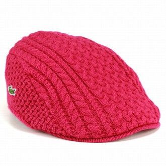 Made in Japan pink cap Hat mens   Lacoste hunting autumn winter   knit Cap  one size fits most   rope knit   LACOSTE hat and 4b8b022cbff