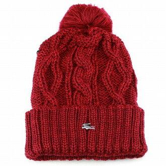 cc5601c32f80f ELEHELM HAT STORE  Best cable red red men s knit Cap LACOSTE Japan knit in knit  hat men s and women s combined Pom knit Kamon Lacoste Hat autumn winter ...
