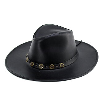 Hats leather hats Henschel leather cowboy hat riding U.S.-made black (black fall/winter fall/winter merchandise hat and Fedora Hat Western Western cowboy hats leather store) (senior day)
