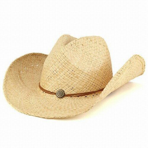 テンガロンハット メンズ カウボーイ ハット レディース ラフィア 春夏 ウエスタン 帽子 天然素材 ナチュラル 男女兼用 春夏帽子 [straw hat] [cowboy hat] カジュアル アウトドア ギフト 春夏帽子 送料無料 (帽子通販 ぼうし)