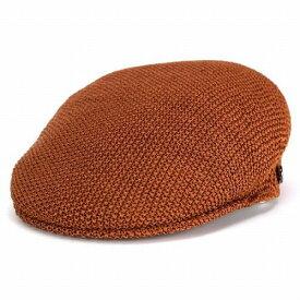Borsalino ボルサリーノ ハンチング帽 メンズ 春夏 サイズ調整可 プロムナード オレンジ [ivy cap] 春夏 送料無料(ハンチング帽子 サマーニット帽子 紳士帽子 40代 50代 60代 70代 ファッション 通販 ブランド帽子 中央帽子 つば付きニット帽 つば付き帽子 ハンチング帽子)