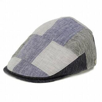 Hunting Hat mens denim Cap Dax patchwork summer linen material olive  (summer vol Cap Cap CAP)  P19Jul15  2806ffddda64