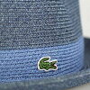 帽子帽子男装 Lacoste 甚而帽子 / 春季纸刀片 / 草帽希瑟颜色蓝色 (帽和存储 50 年代时尚的帽子)