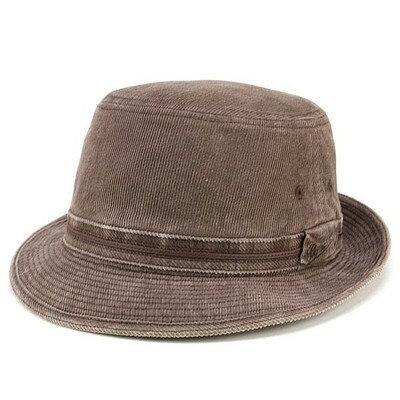 ハット 帽子 アルペンハット コーデュロイ コール天 ボルサリーノ コットン 紳士 ファッション ブラウン borsalino
