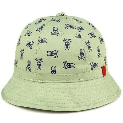 メトロハット サイコバニー スカルバニー柄 帽子 ストリート ファッション お洒落 クルーハット 若草色 ライトグリーン