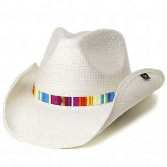 87233c670 Cowboy hats Peter grim and Rainbow Color Ribbon / Fedora hat and spring  summer hats /petergrimm hat/pgd9623 LABYRINTH / white white.