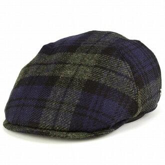 DAKS Cap / Hat men's /valley mills by mallalieus / British wool Tweed / check pattern size adjustments / Navy Navy (fall/winter Hat)