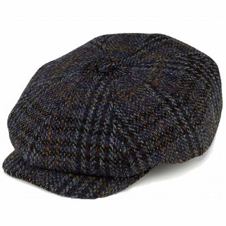 Cool hunting casket Hat autumn/winter Ivy Cap Harris Tweed hunting men's Blue Blue (hat fashionable hunting Cap hat and dress peaked Cap Hat Gifts Valentine's day) [10p01ot16]