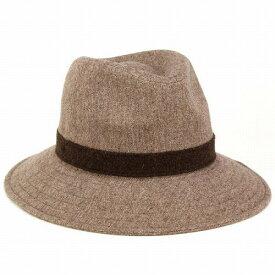 LACOSTE ワイドブリム ハット つば広ハット メンズ つば広 帽子 ラコステ 帽子 広つば 中折れハット レディース 中折れ帽 秋冬 カジュアル コーデ おしゃれ ファッション 小物 ベージュ [fedora] wide-brim hat