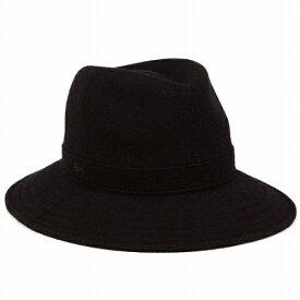LACOSTE ワイドブリム ハット つば広ハット メンズ つば広 帽子 ラコステ 帽子 広つば 中折れハット レディース 中折れ帽 秋冬 カジュアル コーデ おしゃれ ファッション 小物 黒 ブラック [fedora] wide-brim hat