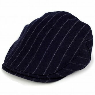 86ac60d7770 Hunting striped men s hats wool hunting pencil stripe Womens Ivy Cap made  in Japan   Navy