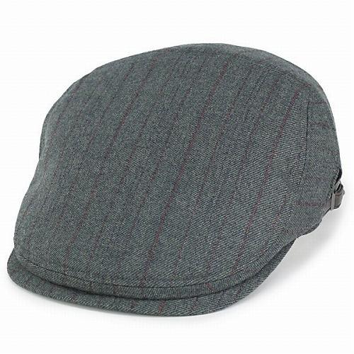 ボルサリーノ ハンチング 帽子 アイビーキャップ borsalino 秋冬 メンズ ウール ストライプ オリーブ (ボルサリーノ 帽子 彼氏 紳士帽子 通販 男性 プレゼント かっこいい オシャレ おしゃれ ハンチング帽 ぼうし ハンチング帽子)