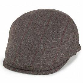 ボルサリーノ ハンチング 帽子 アイビーキャップ borsalino 秋冬 メンズ ウール ストライプ 茶 ブラウン (ボルサリーノ 帽子 彼氏 紳士帽子 通販 男性 プレゼント かっこいい オシャレ おしゃれ ハンチング帽 ぼうし ハンチング帽子)