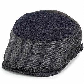 ボルサリーノ ハンチング 帽子 メンズ borsalino ウール パッチワーク グラデーション グレー(ボルサリーノ 紳士帽子 ハンチング帽 ハンチング帽子 秋冬 ギフト 40代 50代 60代 ファッション プレゼント 通販 ブランド帽子 誕生日 父親 中央帽子 男性 ぼうし)