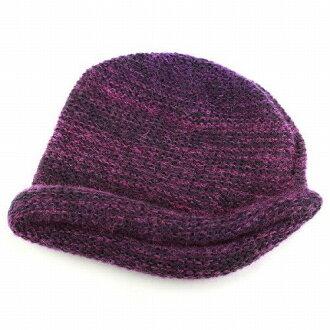 6ca84674 Fall/winter knit hat women's hood mohair women hats Wool Hat Japan  eclettico ecretico Purple system