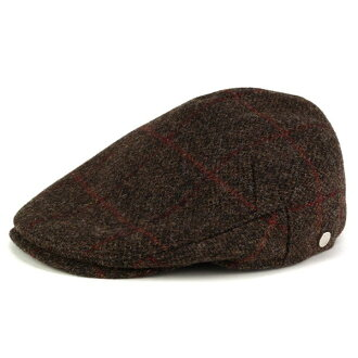 daks daks moon tweed hunting with earmuffs winter fall/winter Hat Tweed wool tea Brown