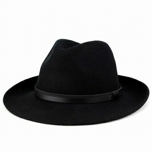 ソフトハット フェルト 帽子 大きいサイズ メンズ 中折れハット イタリア製 フェルトハット Di CHIARA ROSA 帽子 秋 冬 メンズ つば広ハット レディース 紳士 中折れ帽 ディ・キアラ・ロ−ザ 帽子 ワイド ブリム サイズ豊富 ブラック 黒 [big size] [wide-brim hat]