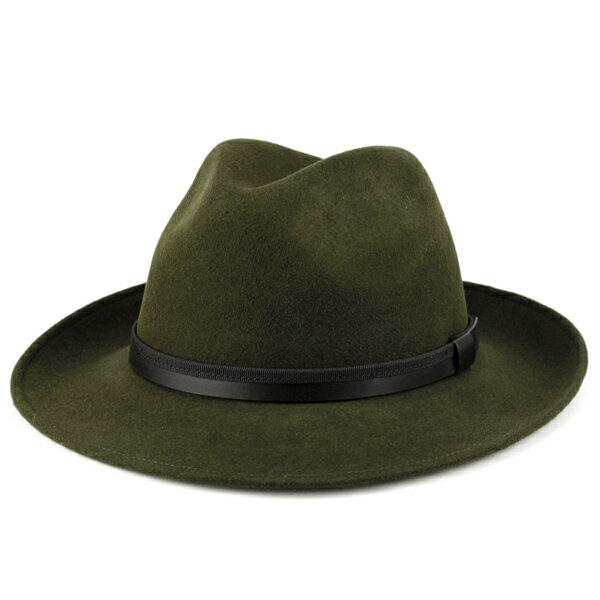 ソフトハット フェルト 帽子 大きいサイズ メンズ 中折れハット イタリア製 フェルトハット Di CHIARA ROSA 帽子 秋 冬 メンズ つば広ハット レディース 紳士 中折れ帽 ディ・キアラ・ロ−ザ 帽子 ワイド ブリム サイズ豊富 カーキ系 ダークグリーン [wide-brim hat]