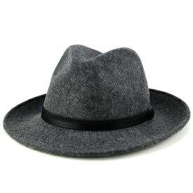 ソフトハット フェルト 帽子 大きいサイズ メンズ 中折れハット イタリア製 フェルトハット Di CHIARA ROSA 帽子 秋 冬 メンズ つば広ハット レディース 紳士 中折れ帽 ディ・キアラ・ロ−ザ 帽子 ワイド ブリム サイズ豊富 グレー ( プレゼント) [wide-brim hat]