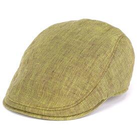 Borsalino ハンチング メンズ ハンチング帽 hunting cap ボルサリーノ リネン ボルサリーノ 麻 リネン ハードマンズリネン 麻 春夏 ハンティング Herdmans カーキ [ivy cap](紳士帽子 ハンチング帽子 40代 50代 60代 70代 ファッション 通販 ブランド帽子 中央帽子)