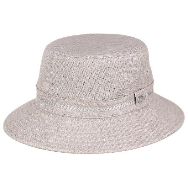 ハット メンズ ボルサリーノ 帽子 Borsalino サファリハット リネン 春 夏 小さいサイズ 大きいサイズ 3L 4L 日本製 麻100% グレー(サハリハット バケットハット カメラマンハット 登山 大きめ ブランド帽子 ミリタリーハット 中央帽子 紳士帽子 メンズハット) [bucket hat]