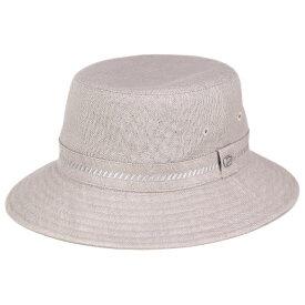 ハット メンズ ボルサリーノ 帽子 Borsalino サファリハット リネン 春 夏 小さいサイズ 大きいサイズ 3L 4L 日本製 麻100% グレー (サハリハット バケットハット カメラマンハット 大きめ ブランド帽子 ミリタリーハット 中央帽子 紳士帽子 メンズハット) [ bucket hat ]