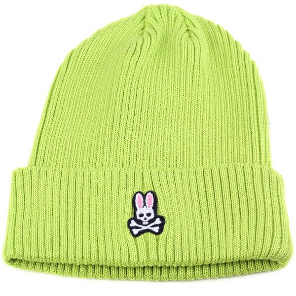 Psycho Bunny メンズ ニット帽 サイコバニー レディース サマーニット ワッチ 春夏 サイコバニー サマーニット帽 カジュアル ファッション コーデ おしゃれ うさぎ 帽子 ブランド ニット ライトグリーン [beanie cap] [knit cap] 父の日