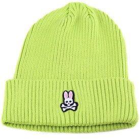 Psycho Bunny メンズ ニット帽 サイコバニー レディース サマーニット ワッチ 春夏 サイコバニー サマーニット帽 カジュアル ファッション コーデ おしゃれ うさぎ 帽子 ブランド ニット ライトグリーン [ beanie cap ] [ knit cap ]