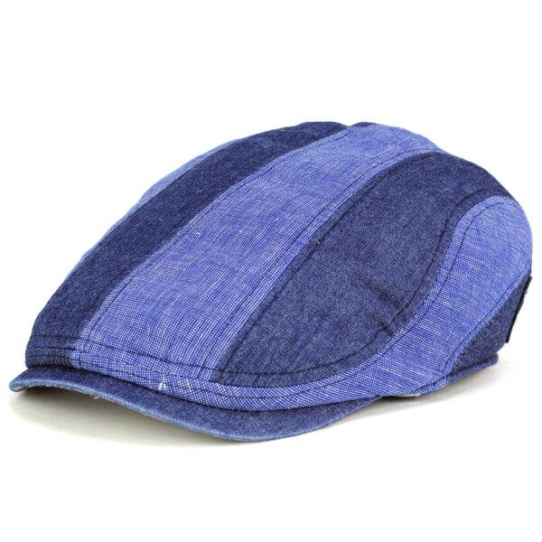 シナコバ ハンチング メンズ 春夏 帽子 デニム デニムハンチング sinacova ボーダー パッチワーク デニム マリン 40代 50代 60代 70代 ファッション 綿 麻 日本製 紺 ネイビー [ivy cap](メンズ帽子 ハンチング帽 紳士帽子 ハンチング帽子 おしゃれ 通販 ぼうし)