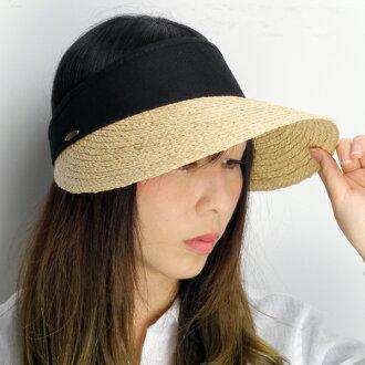 Scala raffia visor ladies scalar cotton visor UV protection scala UV cut Hat  spring summer   black (vol for summer ladies Hat awning Sun hats and hat)  ... 3c644902f24