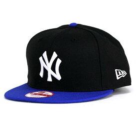 NEWERA ニューエラ new era 9FIFTY ニューヨーク・ヤンキース ブラック ブライトロイヤル×スノーホワイト 青 ベースボールキャップ [ baseball cap ] MLB