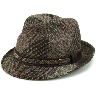 Casket Hat men's autumn/winter turu Hat check pattern KASZKIET turu Hat Harris Tweed gents check autumn Poland wool 62 cm large and Brown Brown (mens Hat wool hat with 30s 40s 50s 60s 70s fashion fall winter ones)