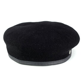LAULHERE アーミーベレー ローレル ベレー帽 Commando ベレー レディース メンズ ベレー帽 フランス製 ブランド ローレル インポート ベレー帽 軍隊 アーミー デザイン ウール 帽子 秋 冬 シンプル 黒 ブラック [ beret ]