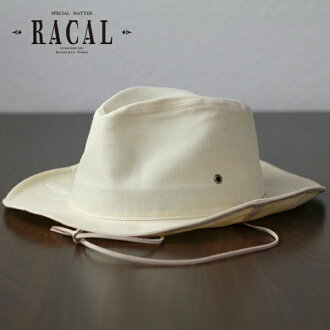 Racal cowboy hat mens DrawString Hat local summer cowboy hat awning / collar wide Hat men's UV protection / Fedora hat size adjustable steel Japan paraffin processing / off white father's day gift