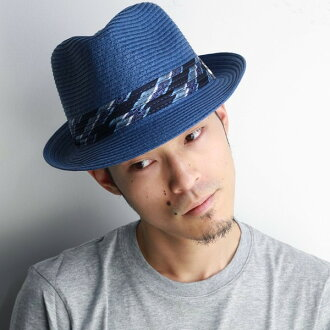 "Hat men's straw hat spring summer straw hat Hat Santana Carlos straw hat men's Carlos Santana hats santana paper blade spring summer turu Hat men's hats men's MEMENTO blue blue [straw hat""(store gentlemen vol straw hat Caps hats)."