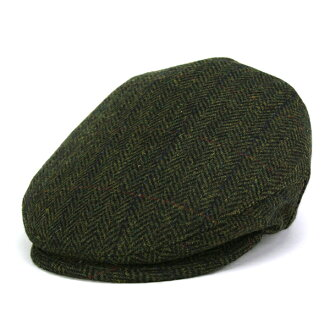 To the casket Cap mens fall/winter Shetland wool Tweed limbo in hunting hats gentleman KASZKIET import Poland brand casket Hat bigger size olive (30s 40s 50s 60s 70s fashion Hunting Hat fall season autumn/winter ones)