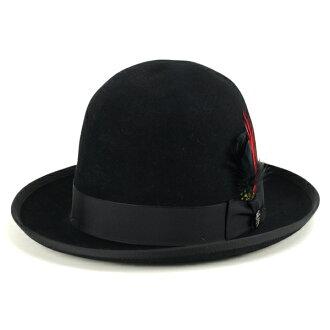 斯特森远觉得帽子男式秋斯泰森男人冬天帽子打开冠斯泰森总理惠帽子框美国大小 7 3/8 高等级帽子斯泰森美国作黑色 [fedora]