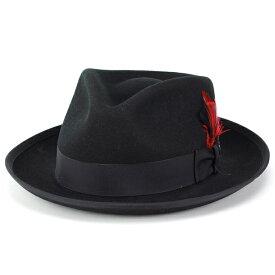 ステットソン ハット メンズ 秋 ウィペット stetson 帽子 STETSON WHIPPET HAT 中折れハット 大きいサイズ ウール 冬 メンズ 中折れ帽 紳士 フェルトハット アメリカ ブランド 帽子 クラシック フォーマル カジュアル 帽子 XL XXLサイズ 黒 ブラック[ fedora ] フェルト