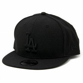 NEWERA キャップ ニューエラ LA メンズ new era 9FIFTY ロサンゼルス・ドジャース レディース ベースボールキャップ サイズ調整可 黒 ブラック×ブラック [ baseball cap ] [ cap ]( 野球帽子 メジャーリーグ ブランド帽子 ニューエラキャップ メンズ帽子キャップ) MLB