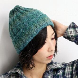9a8986679a01b ELEHELM HAT STORE  Knit hats men s knit Cap ladies Italy yarn Hat outdoors  NetWatch Kamon autumn winter Green Green winter  10P30May15