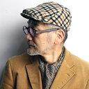 daks ハンチング チェック カシミヤ ウール 秋冬 メンズ 帽子 小さいサイズ 大きいサイズ Lサイズ LLサイズ ダックス ファッション 英国 小物 ハン...
