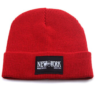 8be1a8cb4b6fe Knit hat men s logo NEW YORK HAT NET watch New York Hat Hat knit  American-made both of our logo Cap Women s unisex one size fits all winter  sports   red ...
