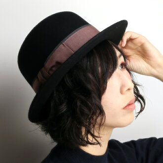 7da11ff4bc0c2 The bowler hat Lady's hat & dreams hat refined coordinates / black black  [boater