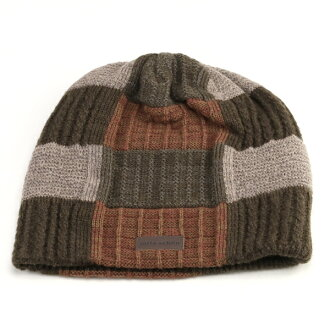 f36c3165bfbc6 Shon Cap patchwork cable crochet knit hat hair mixed Kamon autumn winter  men s mix knit Womens mila schon Beanie outdoor winter sports beige beanie  cap ...